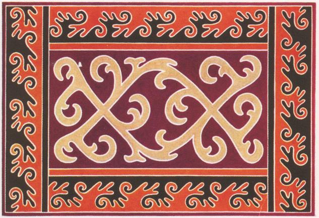 Ingush ornament. <br/>1889 year