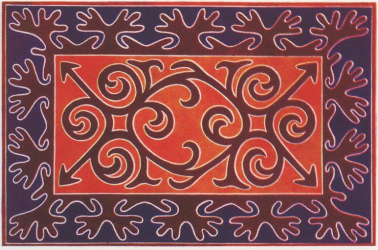 Ingush ornament. <br/>1890 year