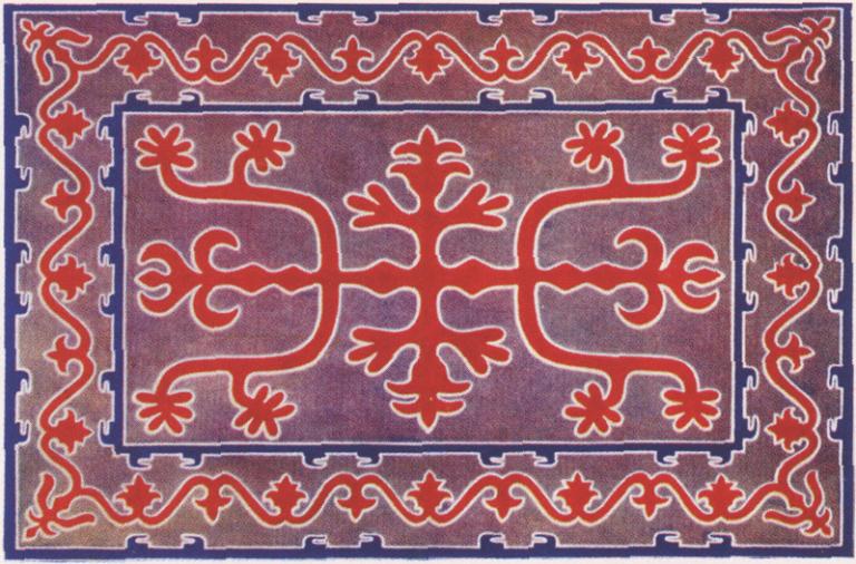 Ingush ornament. <br/>1882 year