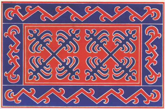 Ingush ornament. 1916 year