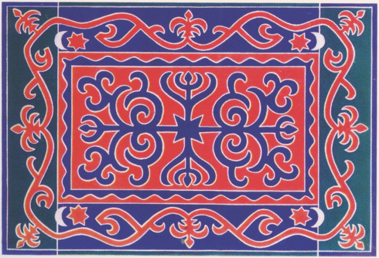 Ingush ornament. 1889 year