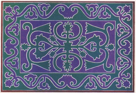 Ингушский войлочный ковер. <br/>1882 год