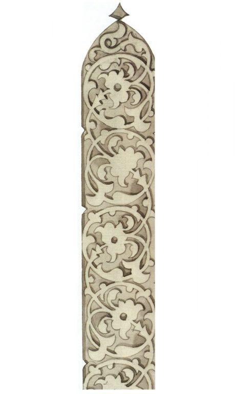 Decoration of gravestone edges. <br/>First half of 16th century