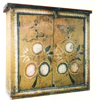 "Branches with flowers. ""Zalavok' chest painting. <br/>Еarly 20th century"