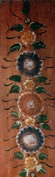 Garland. Board painting . <br/>Late 19th century