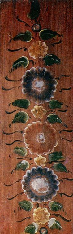 Гирлянда. Роспись доски заборки. Конец 19 века