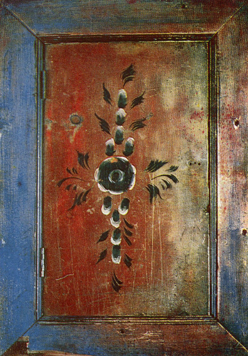 Garland. Cupboard door painting . <br/>1905 year