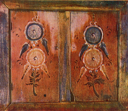Zalavok' cupboard door painting . <br/>1905 year