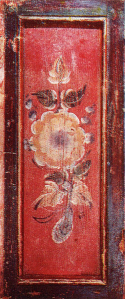Flower. Cupboard door painting . <br/>1907 year