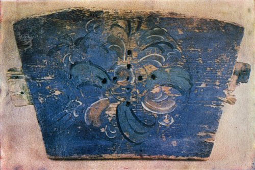 Flower. Painting on a cradle's front panel . <br/>Late 19th-early 20th century