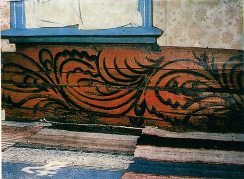 Царские кудри. Роспись нижнего яруса стен горницы. <br/>Начало 20 века