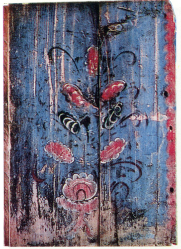Bush. 'Zalavok' chest door painting. <br/>Late 19th-early 20th century