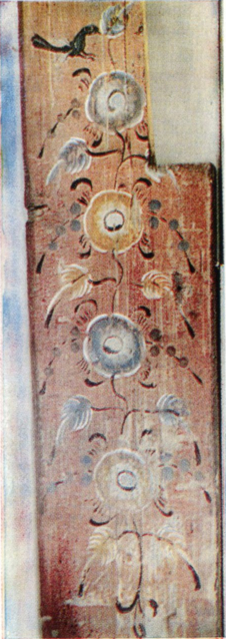Bird on a tree. Stove board painting. <br/>Еarly 20th century