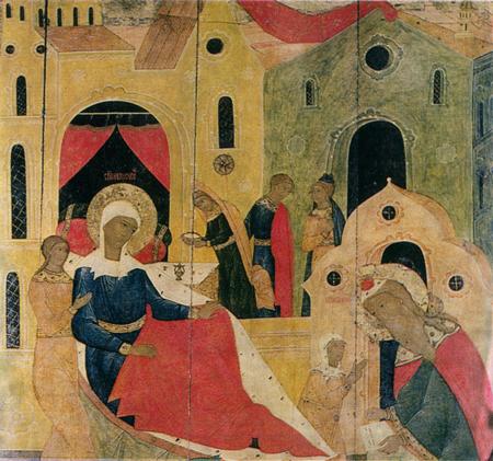 Рождество Иоанна Предтечи. Деталь. <br/>1610-е годы