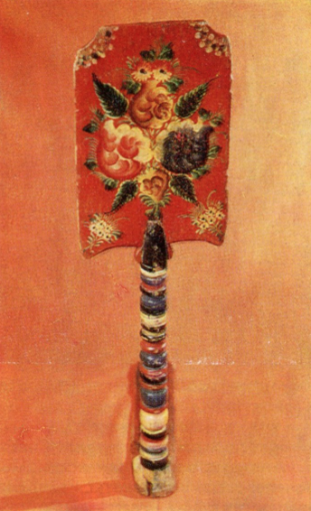 Bouquet. Distaff painting. <br/>Late 19th century