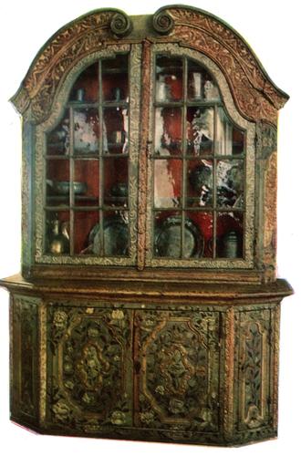 Роспись шкафа. <br/>Середин 18 века