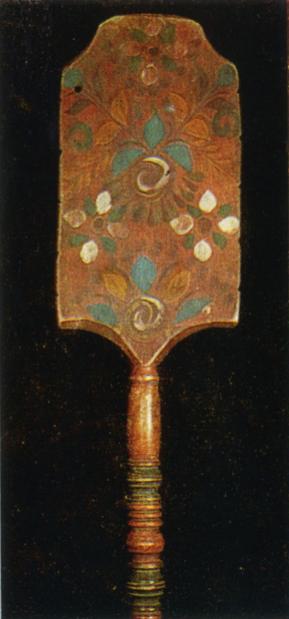 Дерево. Роспись прялки-точенки. <br/>Конец 19 века