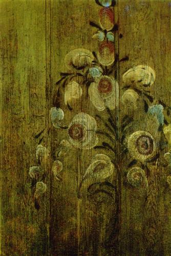 Куст роз. Роспись филенки ворот. <br/>1909 год