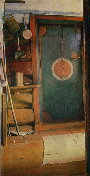 Sun in the form of a circle. Door painting . <br/>1892 year