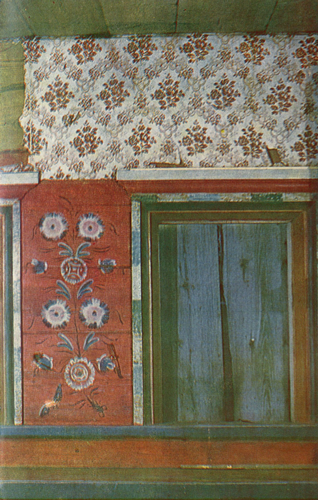 Flowers and birds. Painting of a room's middle part . <br/>1875 year