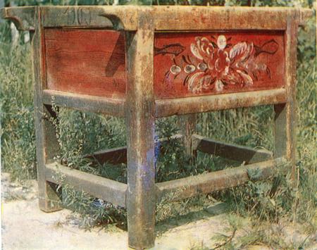 Цветы, ягоды, рыбы. Роспись подстолья. <br/>1900 год