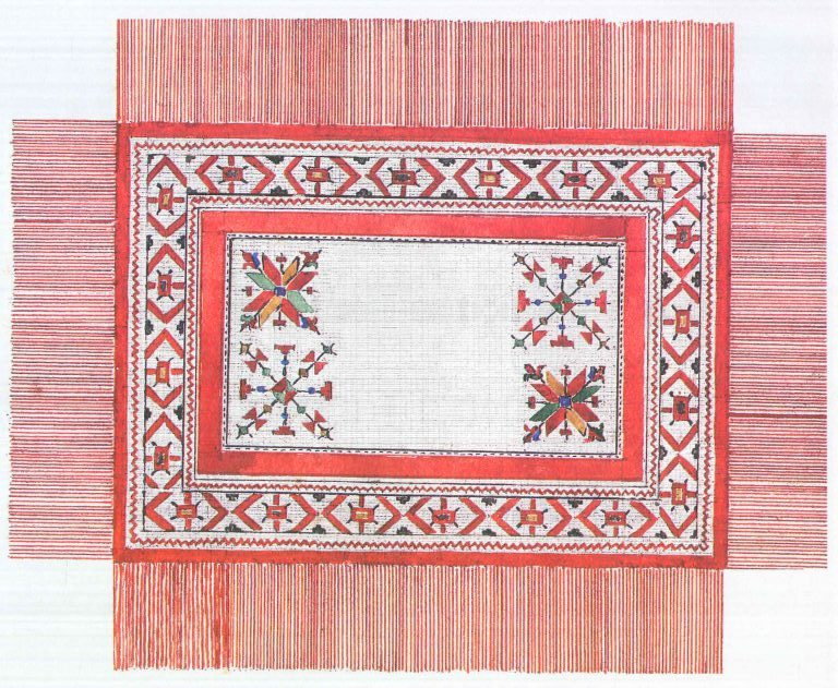 Bridegroom kerchief. <br/>18th century
