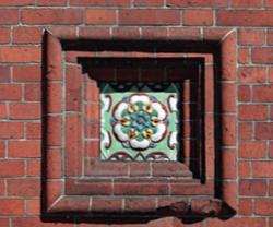 Изразец на часовне Александра Невского. <br/>1892 год