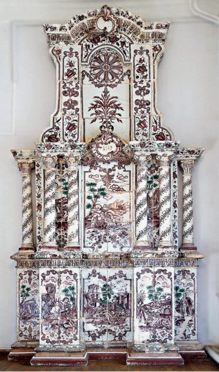 Tile stove designed by B. Rastrelli (?) . 1769 year