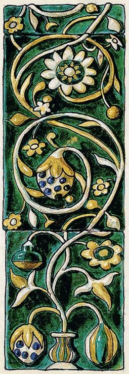Изразец из церкви Сретения в Вологде. <br/>1731 — 1735 годы