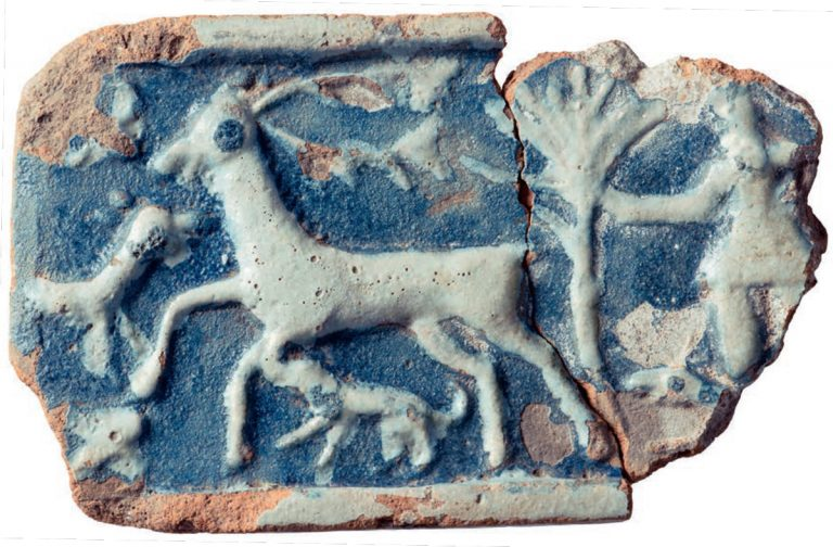 'Hunt' tile . Second half of the 17th century