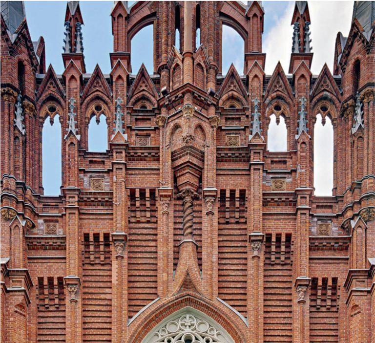 Терракотовые элементы архитектурного декора на фасадах собора Непорочного Зачатия Пресвятой Девы Марии. <br/>1913 год