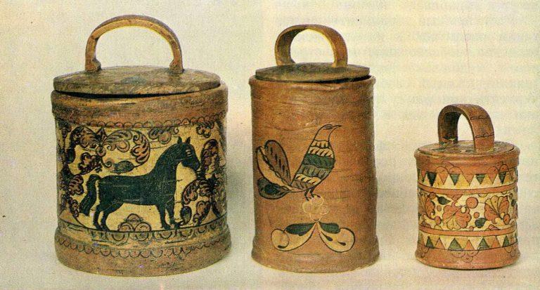 Бураки — сосуды из бересты для питья. XIX век. <br/>19 век