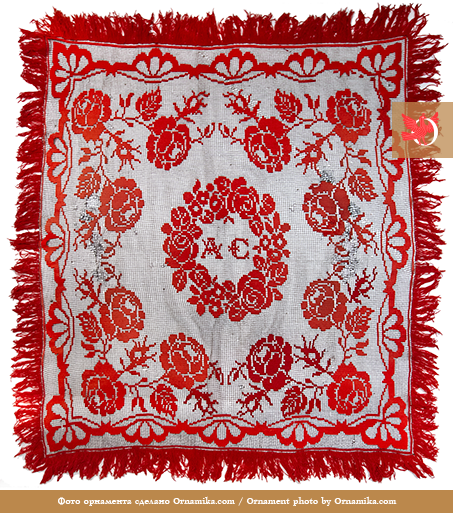 Crochet tablecloth. <br/>Early 20th century