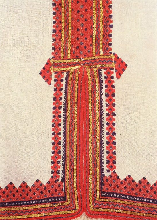 Panar' (women's shirt) hem embroidery. Fragment . <br/>1920-1930 years