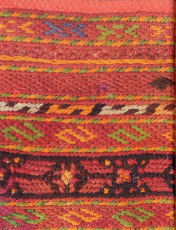 Soroka' (headdress) embroidery. Fragment. <br/>Еarly 20th century