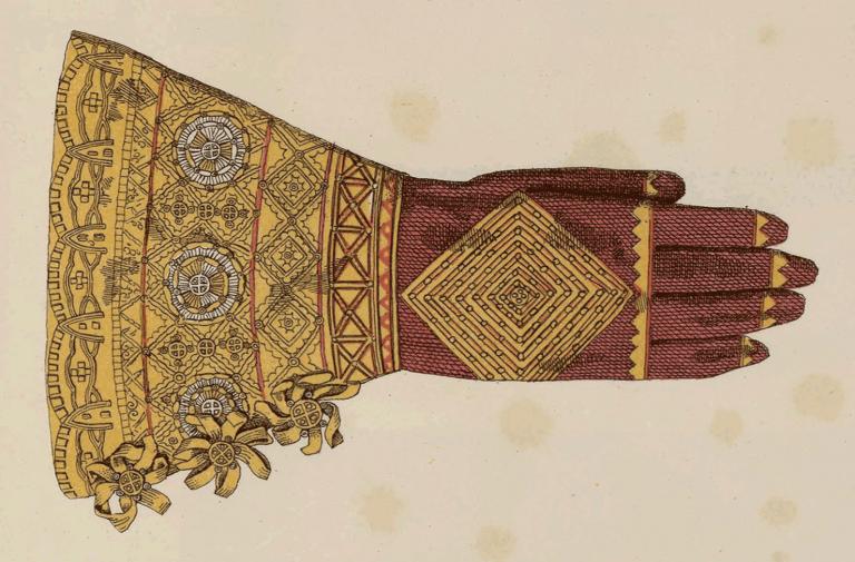 Старинные персчатые рукавицы