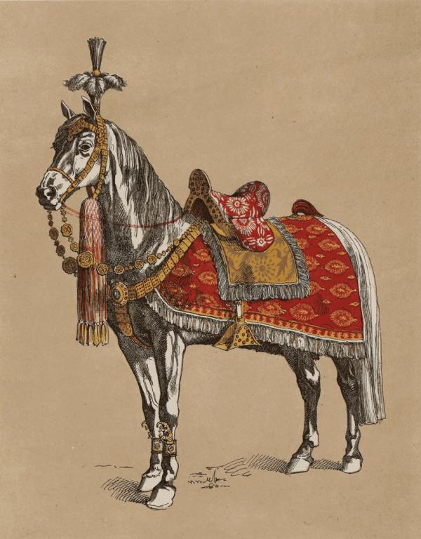 Уборы царских лошадей в разных торжественных выходах