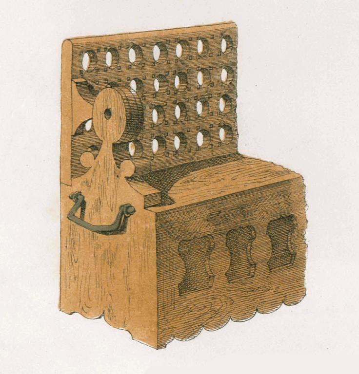 Скамейка в монастыре. <br/>17 век
