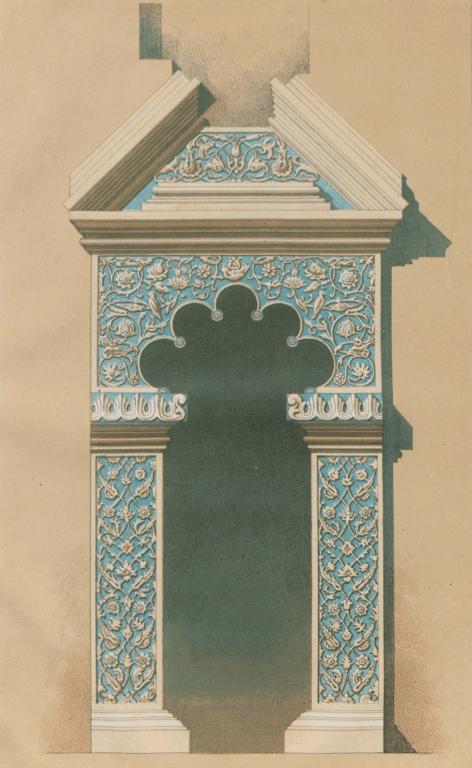 Двери из главного придела в южный в церкви Грузинской Божьй Матери. <br/>17 век