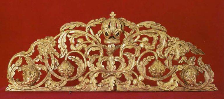 Carved iconostasis' top. Detail. Around 1700