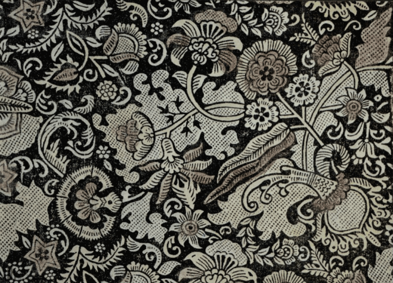 Linen cloth (hand printed cloth). <br/>Second half of the 17th century