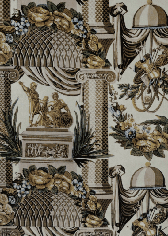 Cotton fabric (calico). <br/>1820-1830s