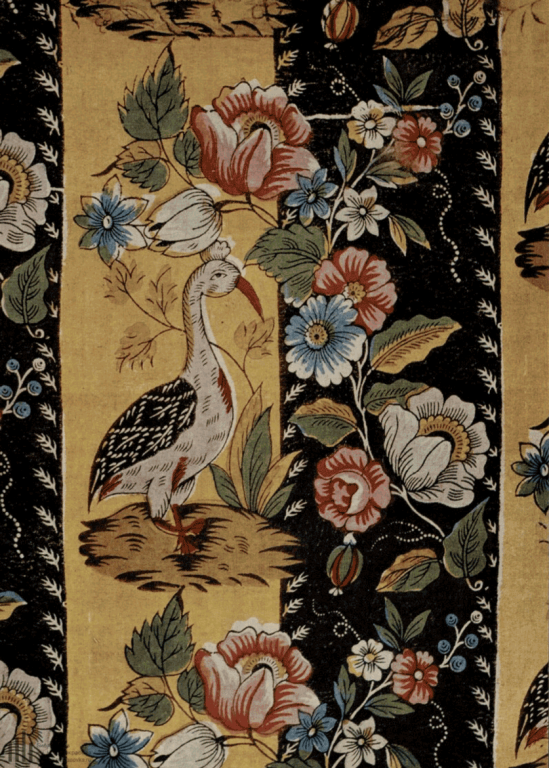 Cotton fabric (calico). <br/>First half of the 19th century