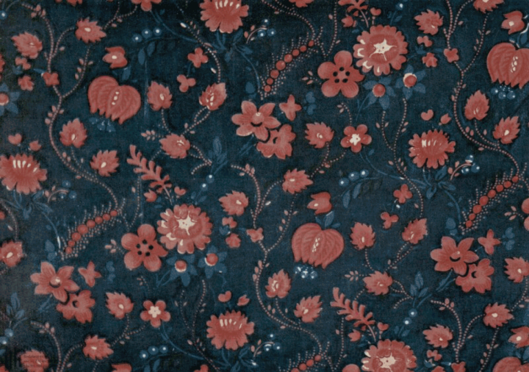 Cotton fabric (indigo calico).. <br/>Second half of the 19th century