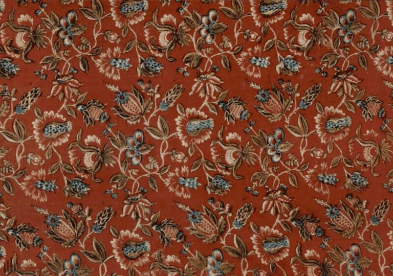 Ткань хлопчатобумажная (выбойка). <br/>Конец 18 - начало 19 века