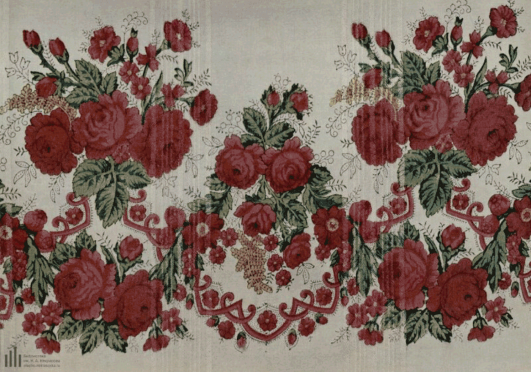 Wool (cashmere) fabric with printed pattern. Shawl fragment. <br/>Late 19th century