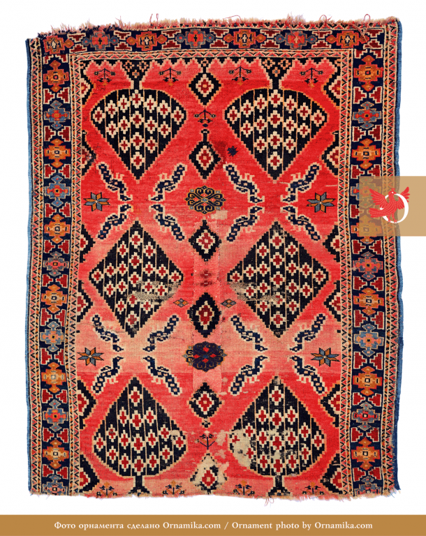 Pile rug. <br/>Early 20th century