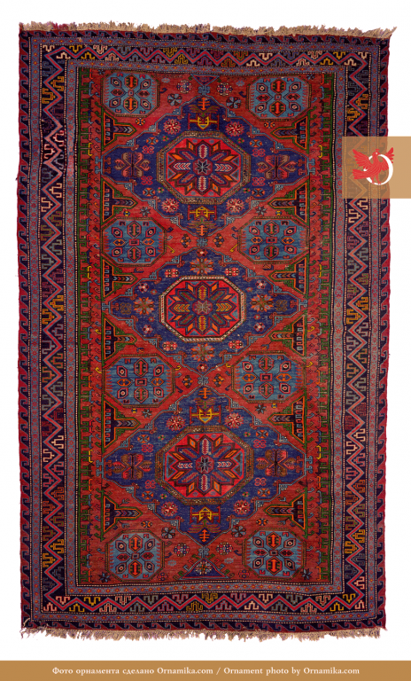 Soumak, lint-free rug. Early 20th century