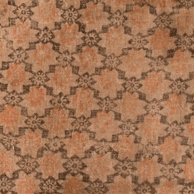 Набойка по льняному холсту. Фрагмент. <br/>17 век