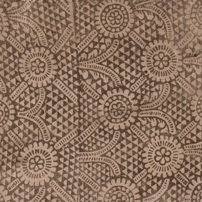 Block-printed fabric. Fragment. <br/>17th century